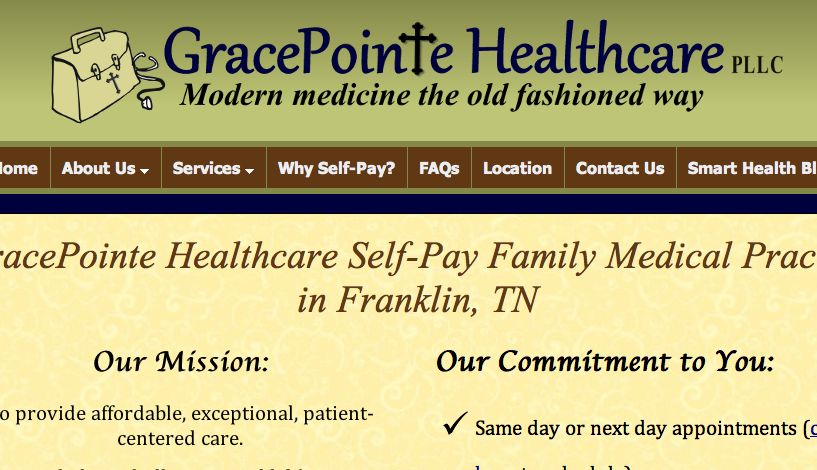 GracePointe Health Clinic: Prices posted, pay up front