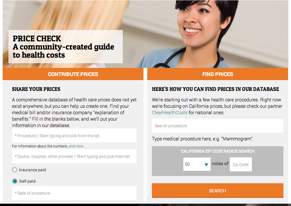 Join us at PriceCheck, our health cost crowdsourcing project