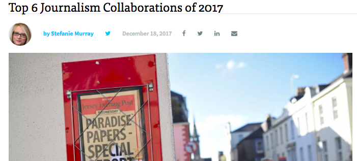 More honors: We're named a top journalism collaboration of 2017