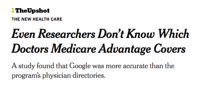 Even researchers don't know which doctors Medicare Advantage covers: The New York Times
