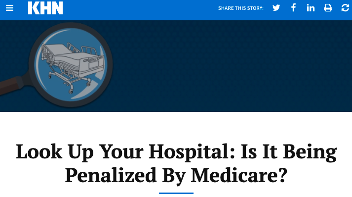 CMS fines half of hospitals for readmitting too many patients: Kaiser Health News lets you look up your hospital